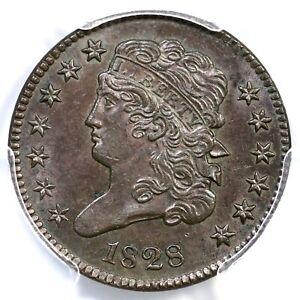 1828 C-1 PCGS MS 63 BN Classic Head Half Cent Coin 1/2c