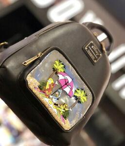 Three Caballeros Donald Duck Disney Beach Loungefly Mini Backpack & Cardholder