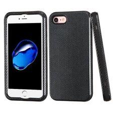 Housses et coques anti-chocs noir en fibre de carbone pour téléphone mobile et assistant personnel (PDA)