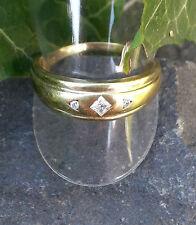 Ring mit Zirkonia  breit Gold 333  Gelbgold  Gr. 20 mm / 63