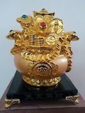 "6"" H Chinese Feng Shui Money Wealth Rich Coin  Statue"