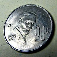 eagles North America snakes Mexico 5 Centavos coin 2001 UNC  Animals