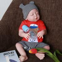 22'' Lifelike Reborn Baby Doll Vinyl Handmade Full Body Silicone Boy Doll Sleep