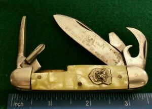Imperial USA Official Boy Scout Camp knife, pearloid handles   $