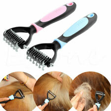 Dog Pet Fur Knot Hair Cutter Trimmer Rake Grooming Shedding Brush Comb