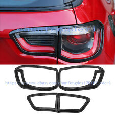 Fit For Jeep Compass 2017 2018 carbon fiber Rear Tail Light Lamp Cover Trim 4pcs