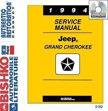 1994 Jeep Grand Cherokee Shop Service Repair Manual CD Engine Drivetrain Wiring