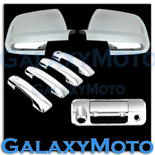 07-12 TOYOTA TUNDRA CREW MAX Mirror+ Chrome 4 Door Handle+Tailgate Camera Cover