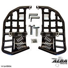 Yamaha YFZ 450R 450X  Nerf Bars  Pro Peg  Alba Racing  Black Black 251 T7 BB