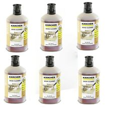 Six Pack Of Karcher 3-in-1 Wood 1L Cleaner Cleaning Detergent 6.295-757.0 1l X6