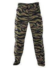 BDU Camo Pants Propper Genuine Gear Zipper Fly 60/40 Ripstop Tiger Stripe XL-Rg