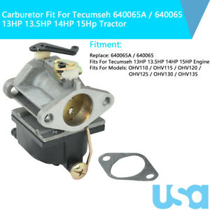 Carburetor Carb 640065 640065A Fit For Tecumseh 13HP 13.5HP 14HP 15Hp Tractor