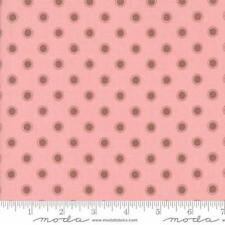 Moda Lella Boutique Olive's Flower Market Parisian Dots Fabric in Pink 5036-12