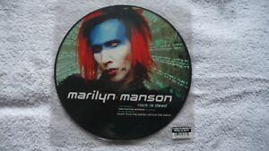 "MARILYN MANSON Rock is Dead 10"" Picture Disc Ltd Edition.The Matrix,Electro Rock"