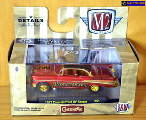 M2 *CHASE* '57 Chevy Bel Air Gasser [Red/Gold] - New/Sealed/*RARE* [E-808]