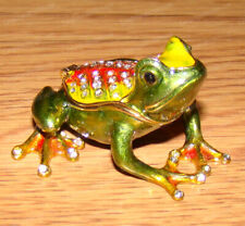 Poison Dart FROG (Wildlife, 3042) Baked Enamel, Bejeweled Trinket, Treasure Box