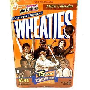 RARE 1999 Wheaties 75th Anniversary Sealed Reg Box Tiger Earl Woods Foundation