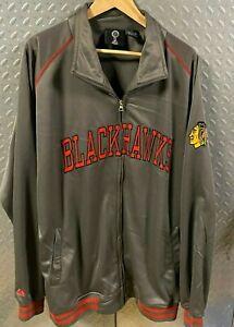 Mens NHL Chicago Blackhawks 2XL Warm Up Jacket / XXL Hockey Coat