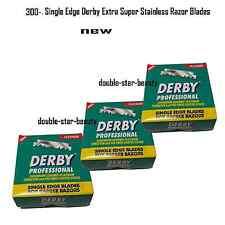 300 Blades Single Edge Derby Extra Super Stainless Razor Blades Barber Razors