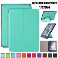 Funda de cuero ultra fina PU plegable Para Amazon Kindle Paperwhite 1/2/3/4