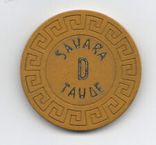 "Old Yellow Poker Chip from the Sahara Casino Lake Tahoe "" D """