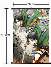 Hot Japan Anime Attack on Titan Levi Rival Ackerman Decor Poster Wall Scroll A+