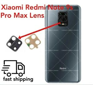 For Xiaomi Redmi Note 9 PRO MAX Rear Glass Camera Lens Plus Adhesive