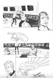 STAR TREK: SCHISM # 2 PG. 16 by JOHN BYRNE! SIGNED!! GREAT ACTION SCENE!!!
