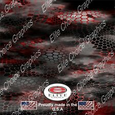 """Chameleon Hex 2 Red Wrap Vinyl Truck Camo Car SUV Real Camouflage 52""""x6ft"""