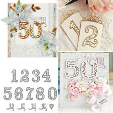 Number Lace Numbers Metal Cutting Dies Stencil Scrapbooking Embossing Card Craft