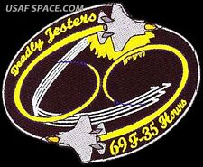 USAF 461st FLIGHT TEST SQUADRON - 69 F-35 HOURS - ORIGINAL AIR FORCE VEL PATCH