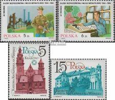 Poland 2937-2938,2952-2953 fine used / cancelled 1984 militia, Krakow