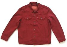 Levis Trucker Jacket Mens Size 2XL Red Denim Button Front