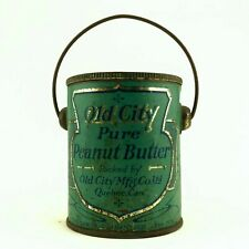 Old City Peanut Butter Can Tin Bucket Pail Quebec 12 Ounces