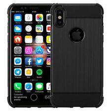 Étuis, housses et coques noirs Pour iPhone X en silicone, caoutchouc, gel pour téléphone mobile et assistant personnel (PDA)