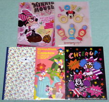 New Sunstar Disney A4 size Clear File Folder Set of 5 Mickey Minnie Japan made