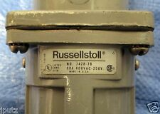 Russellstoll 60 Amp 600 Volt 3W4P In-Line Recepticle Model 7428-78