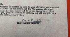 Albert EINSTEIN - Moneta firmata 1947 / Nobel
