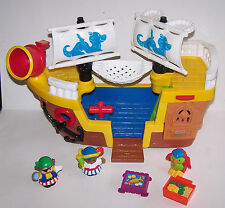 Little People Lil' Pirate Ship Fisher-Price c.2005 Mattel J4419 w/Figures & Acce