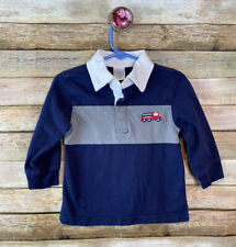 Gymboree Rugby Shirt Boys Size 12-18 Months Navy Blue 100% Cotton