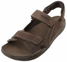 Merrell Bask Duo Mens Moss Brown Leather Open Toe Sport Sandals size 13