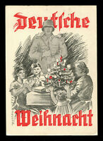 Germany Picture Postcard WW2 German 3rd Reich Christmas Soldier Feldpost 1940