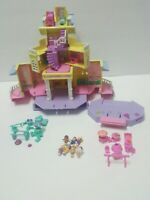 1995 Polly Pocket Vintage Lot Clubhouse aka Pop-Up Party Play House Bluebird Toy