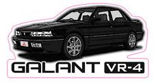 Black JDM Mitsubishi Galant VR-4 Decal. E39A / E38A
