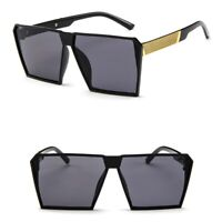 Men's Women's Oversized Sunglasses Fashion Shades Vintage Rectangular Glasses