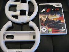 Wii FORMULA 1 2009  F1 2009 - Game - Case & 2 x Steering Wheels Nintendo