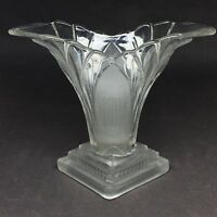 Walther and Sohn Clear and frosted Great Glass Vase. German Art Deco