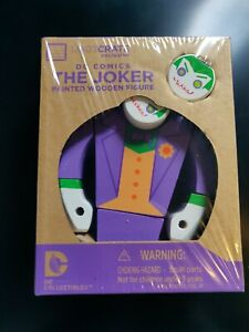 Loot Crate Exclusive The Joker Painted Wooden Figure DC Comics 2015 [NEW Sealed]