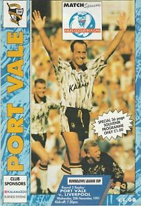 Port Vale v Liverpool  20-Nov-1991