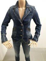 Giacca Jeans DATCH Donna Jacke woman Veste Femme Taglia Size L Cotone 8183